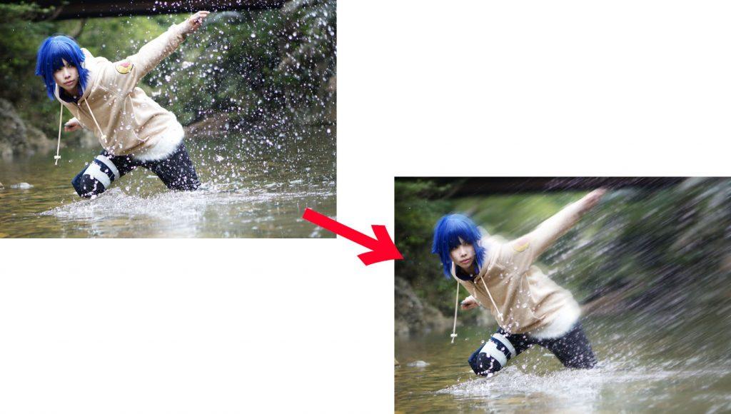NARUTOのヒナタのコスプレ写真を加工