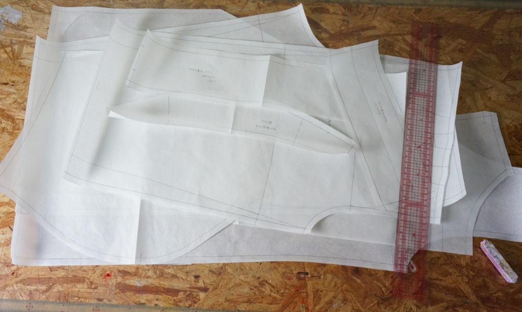 サスケ真伝バージョンの衣装の型紙は依頼者様のサイズで製作