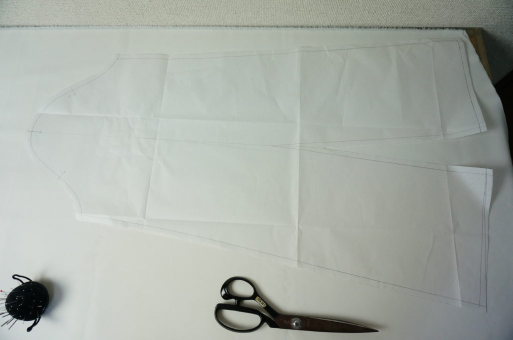 特徴的な袖の型紙