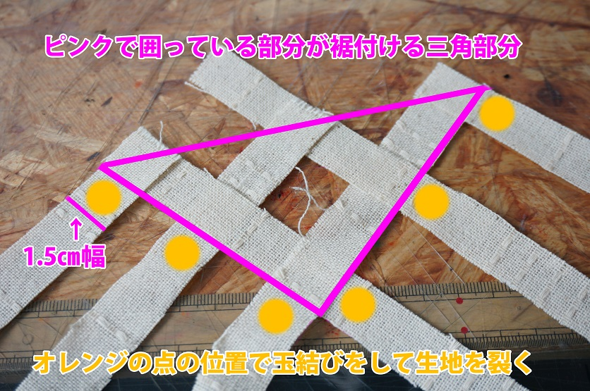 モアナのスカートのフリンジの作り方画像