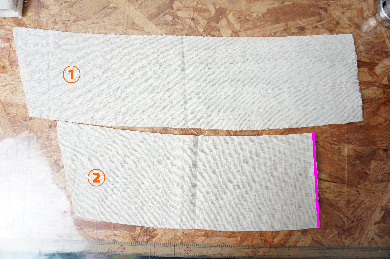 モアナのスカート1段目の裁断完了画像
