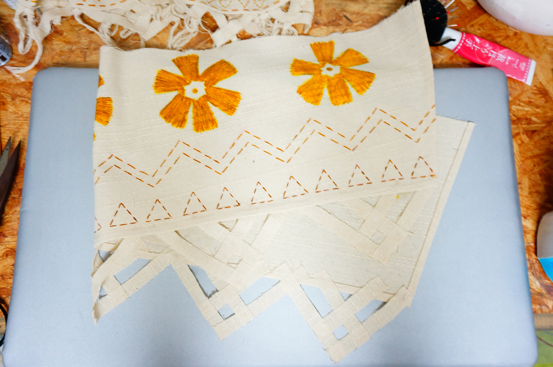 モアナのスカート2段目の完成画像