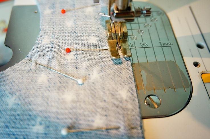 スタイ縫製5㎜で縫う