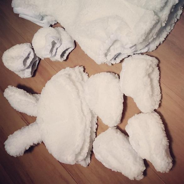 ねころんdeアートイースター赤ちゃん衣装画像
