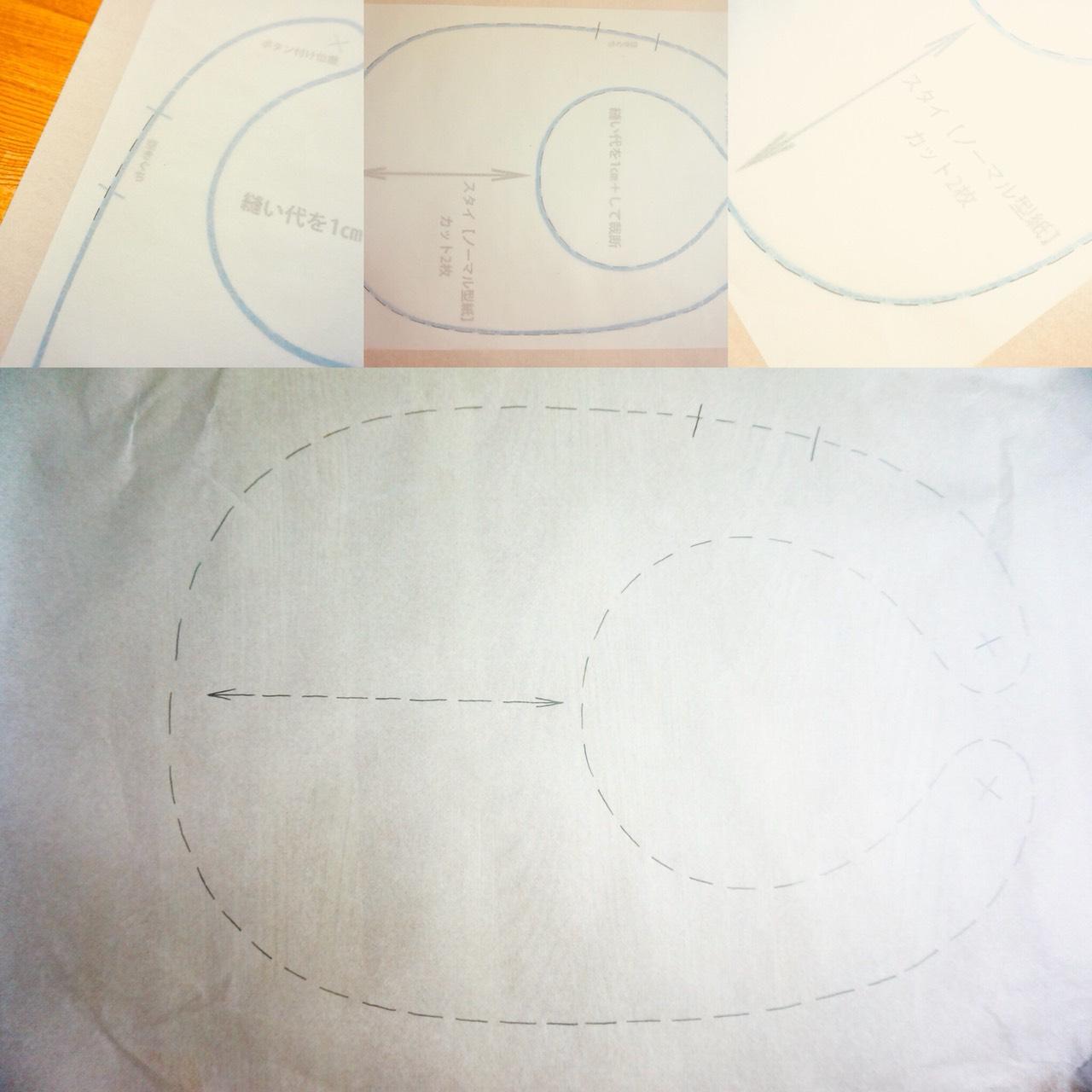 スタイ型紙写し方