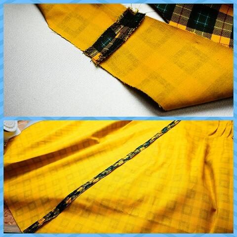 ワンピース縫製割りアイロン