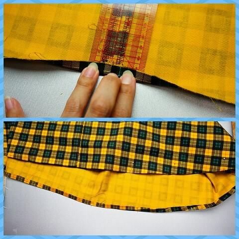 裾の三つ折りの仕方1