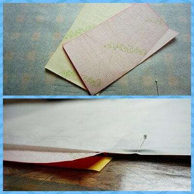 ワンピースのタックを型紙から生地に写す