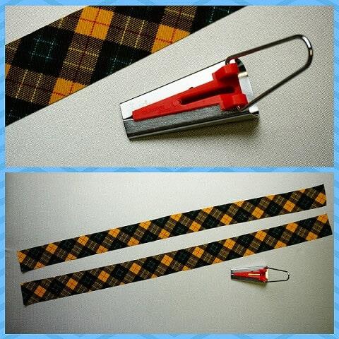 バイアステープメーカーの使い方1