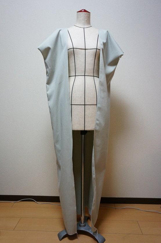 銀魂の次郎長の着物前・後ろ身頃を縫い付けた画像
