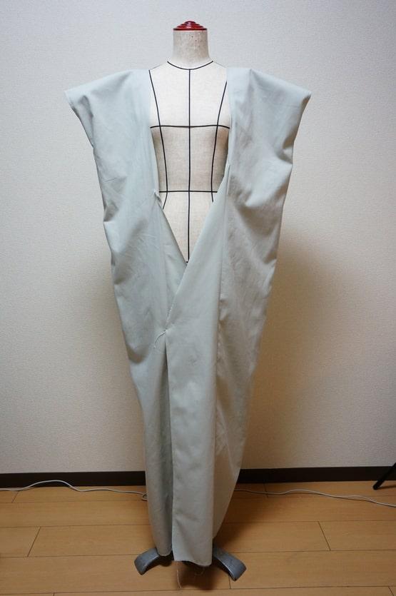 銀魂の次郎長の着物のおくみを縫った画像